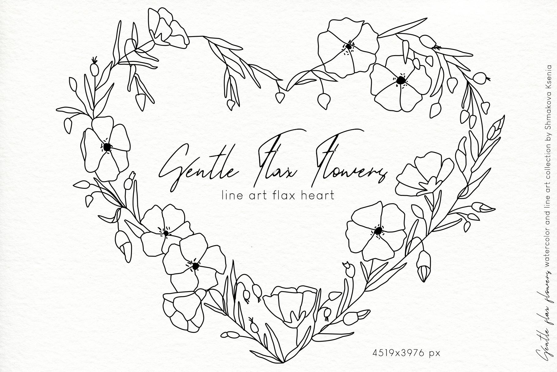 Gentle Flax Flowers example image 10