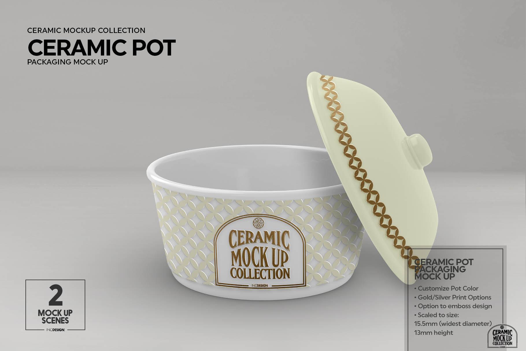 Ceramic Pot Packaging Mock Up example image 7