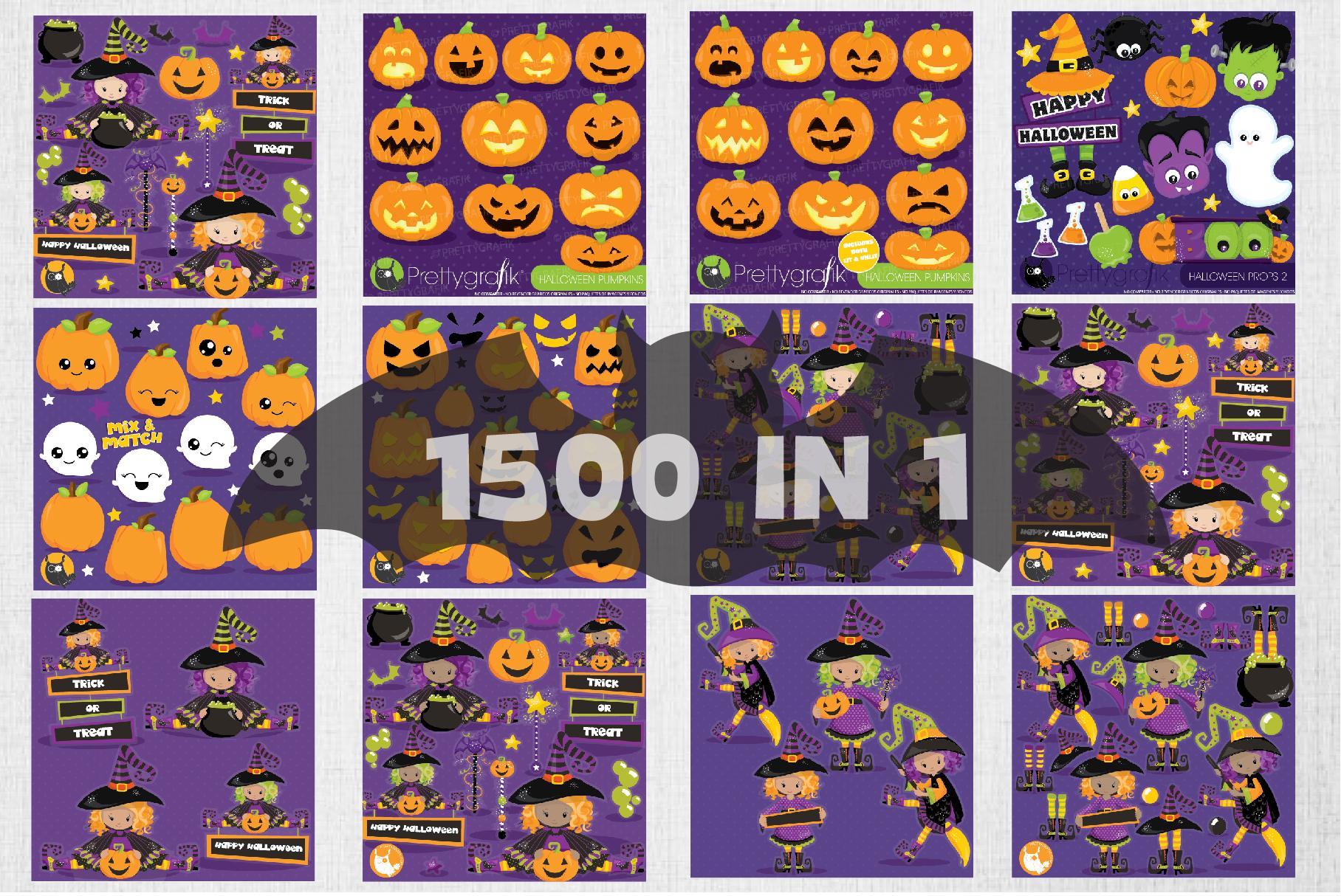 1500 Graphics - MEGA Halloween Bundle - 98OFF example image 2