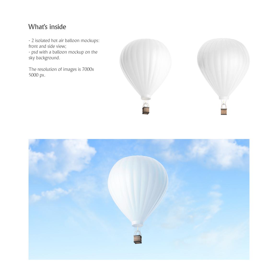 Hot Air Balloon Mockup example image 2