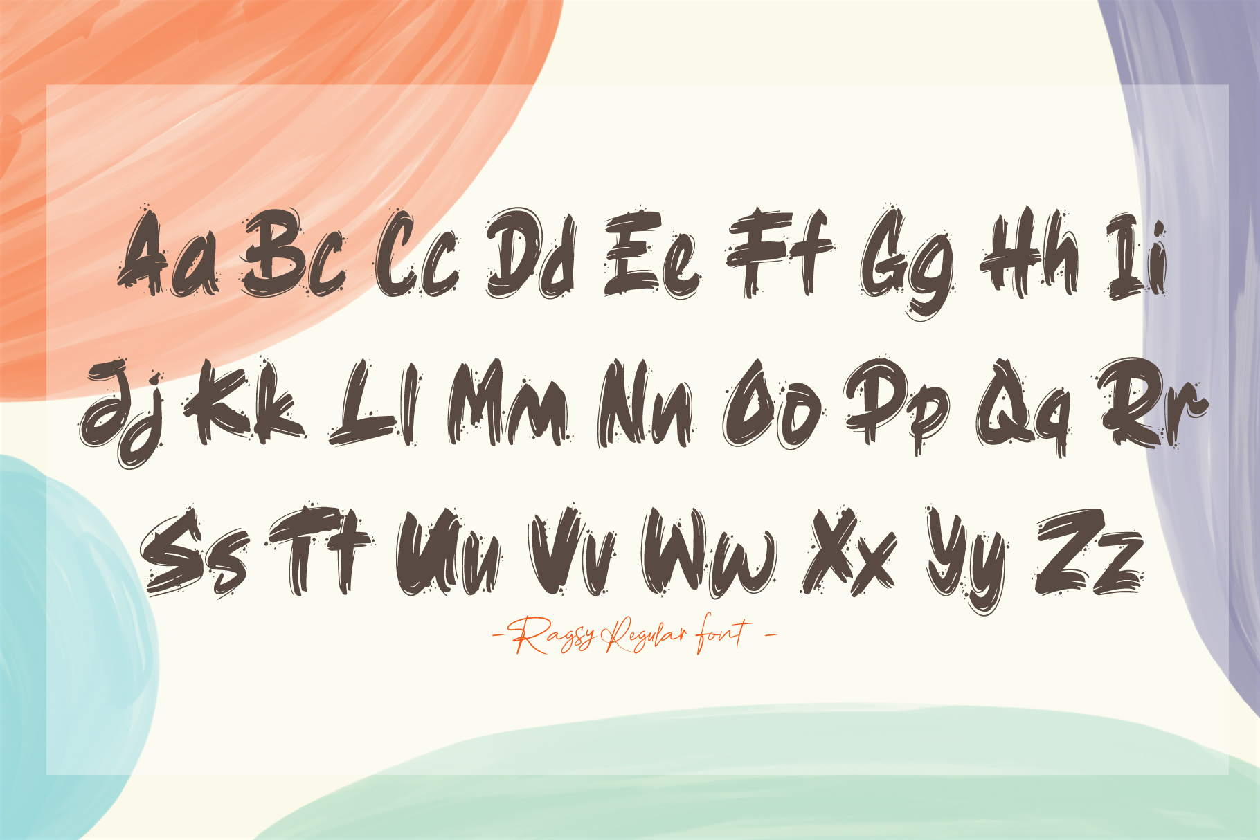 Ragsy | Cartoon layered font example image 5