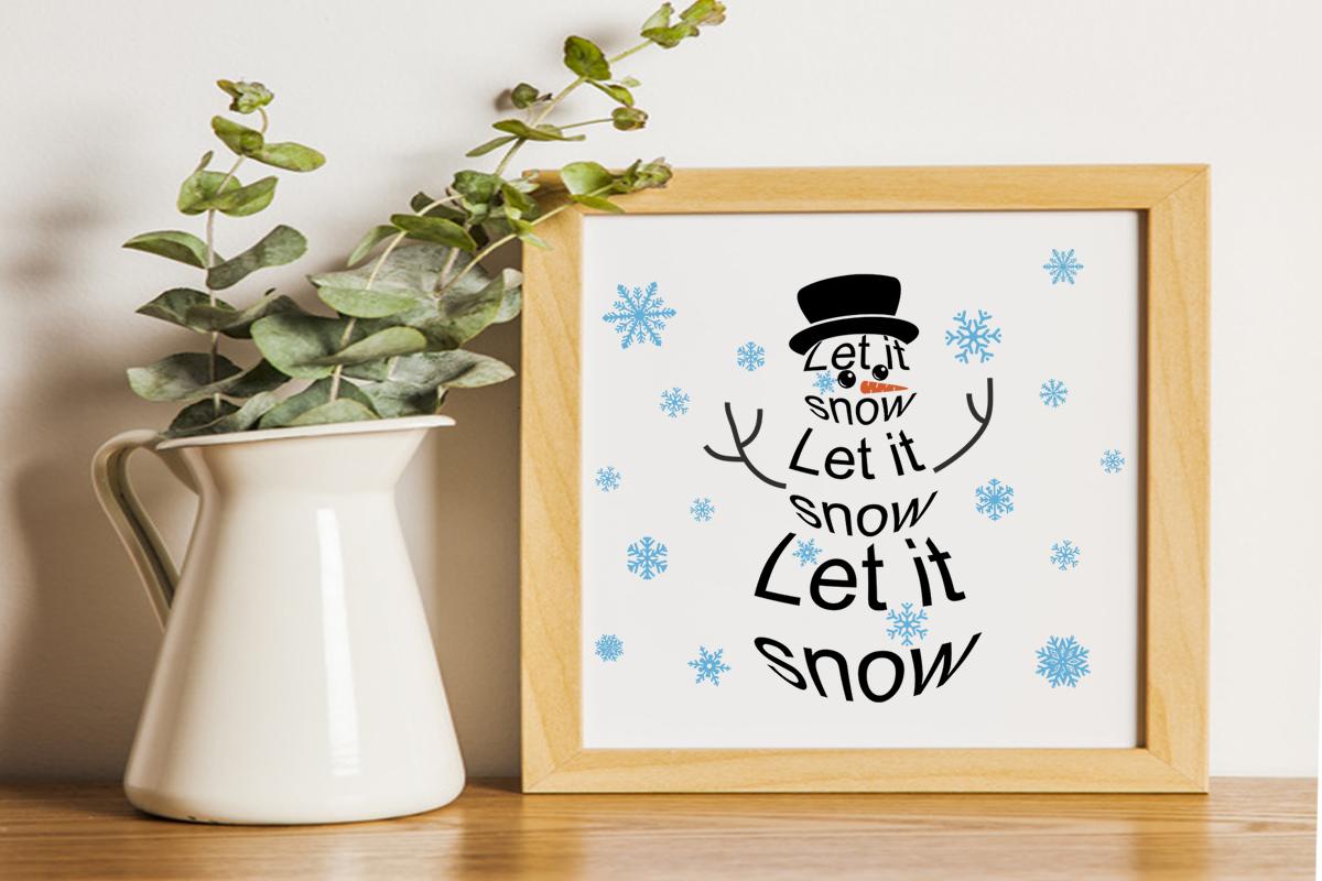 Christmas svg Let it snow svg Snowman svg Winter svg example image 3