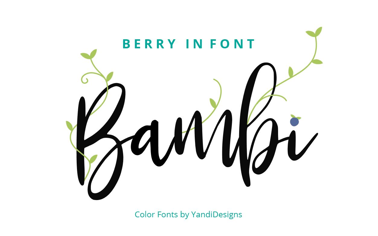 Bambi Font New Extras ! example image 3
