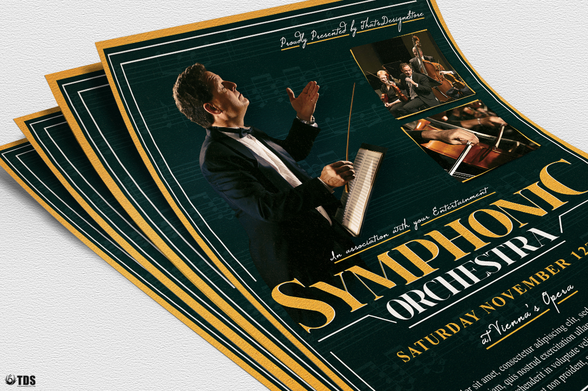 Symphonic Orchestra Flyer Template V2 example image 6