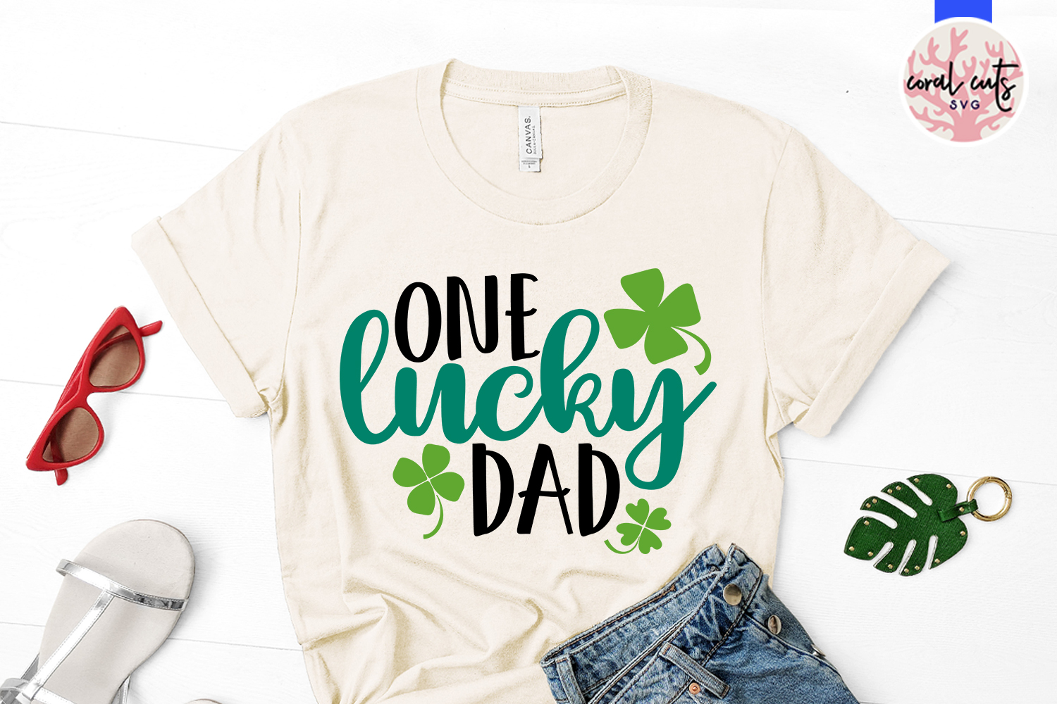 One lucky Dad - St. Patrick's Day SVG EPS DXF PNG example image 2