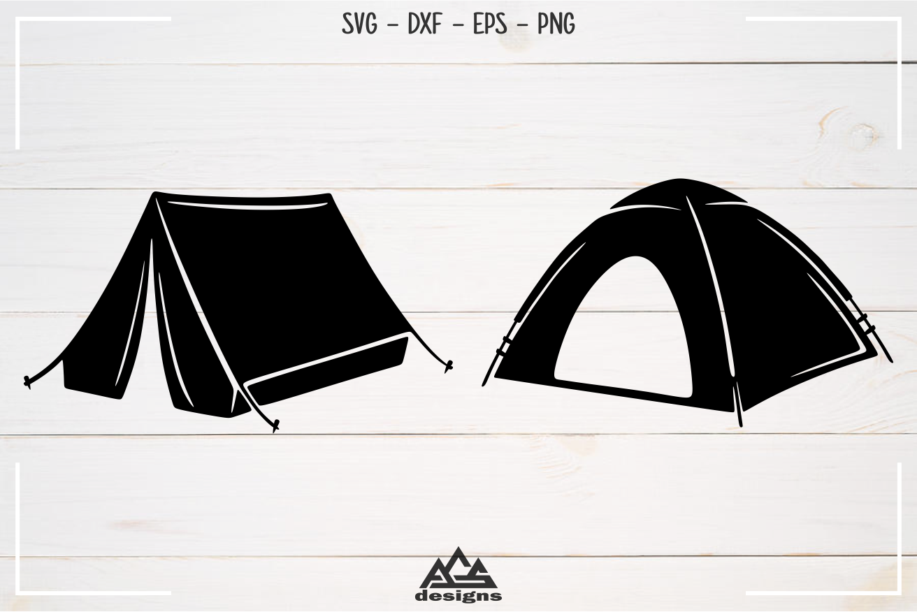 Camp Camping Tent Packs Svg Design example image 2
