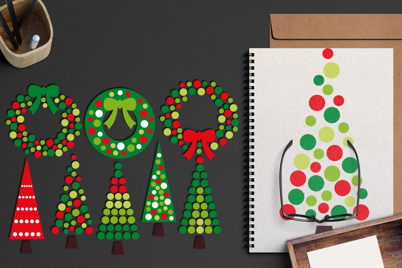 Christmas Wreath and Tree Polka Dot example image 5