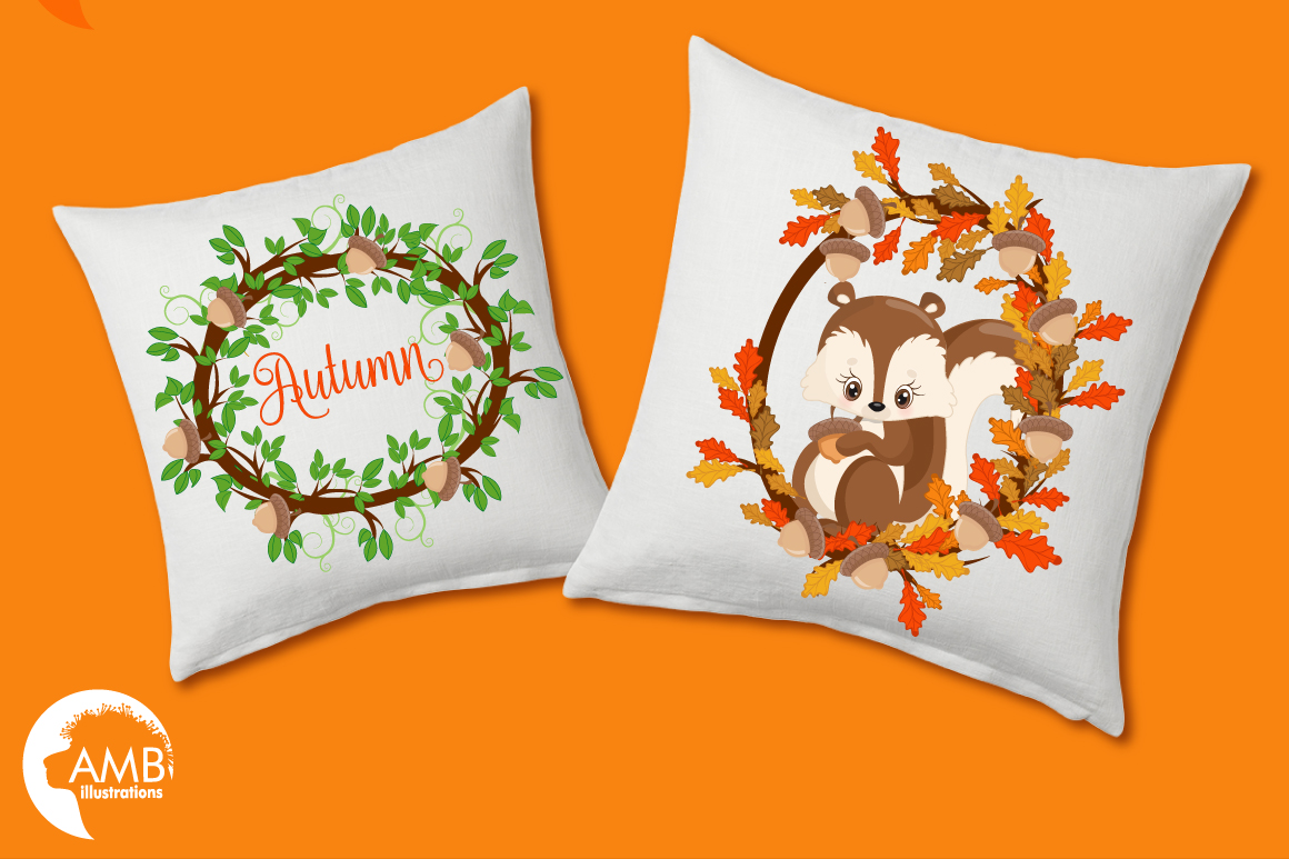 Woodland Critters clipart, graphics and illustrations AMB-1178 example image 2