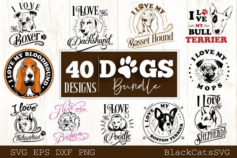 Dogs SVG bundle 40 designs example image 4