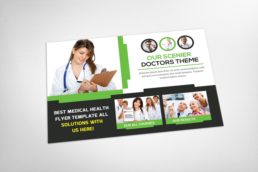 Medical Health Postcard Template example image 3