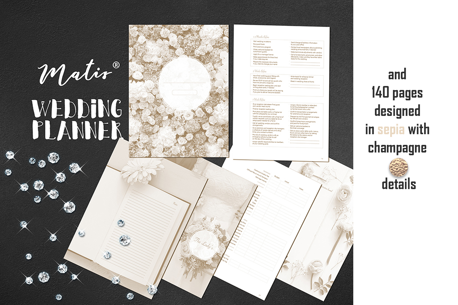 Wedding planner printable / personalization included example image 3