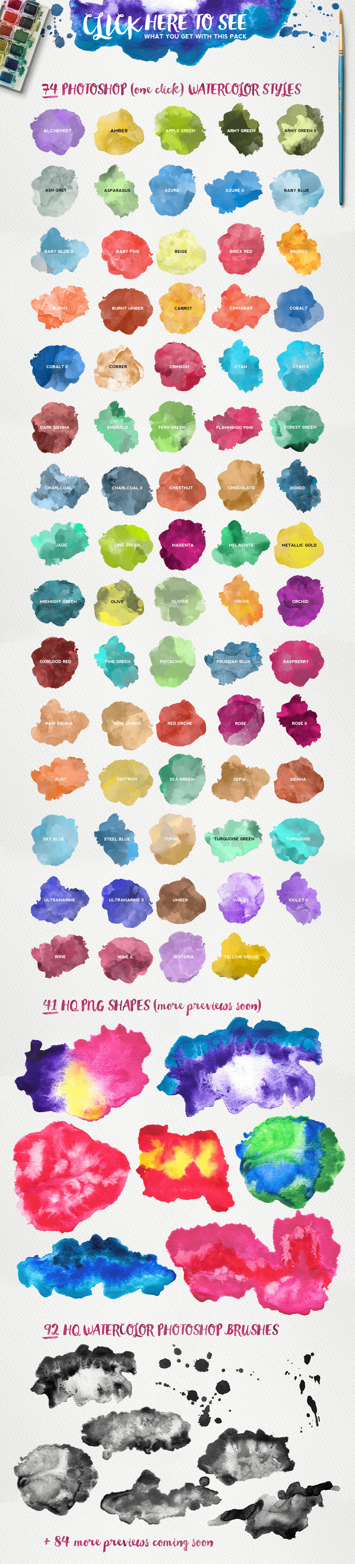 Watercolor KIT for Photoshop example image 2