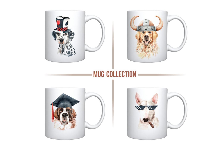 Dog watercolor clipart, Pet clip arts, Dog Set D example image 7