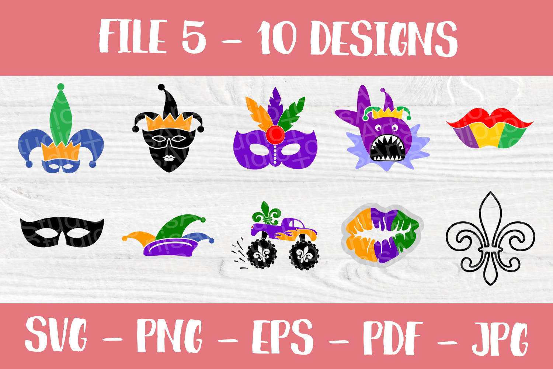 Mardi Gras SVG | SVG Bundle | SVG Cut Files | T shirt Desig example image 6