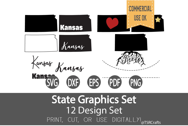 Kansas State Graphics Set - Clip Art and Digital Cut files example image 1