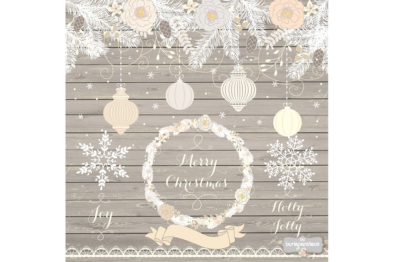 Vintage rustic floral christmas design example image 2