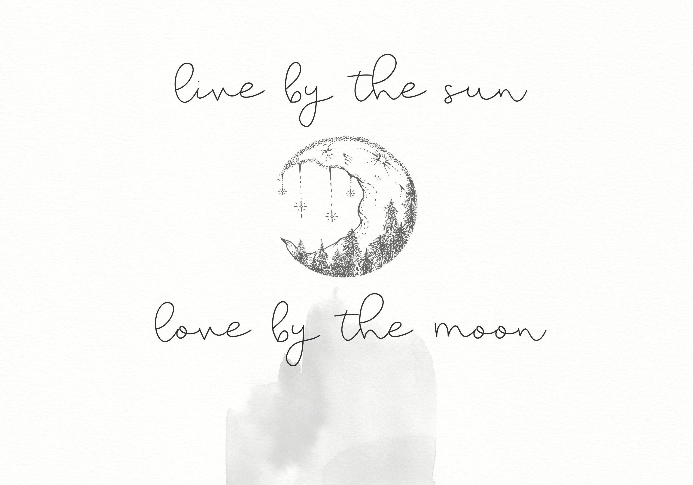 Moonwake - Handwritten Font example image 3