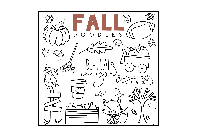 Fall Fun - A Fall / Autumn Doodles Font example image 5