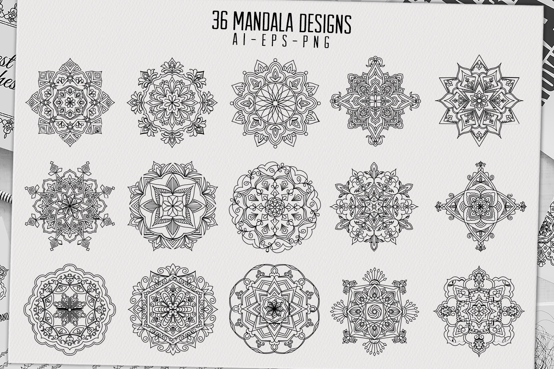 36 mandala designs-45 pattern brushes example image 5