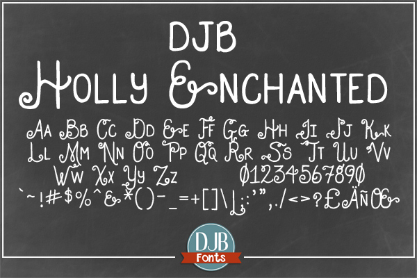 DJB Holly Sessions Font Bundle example image 2