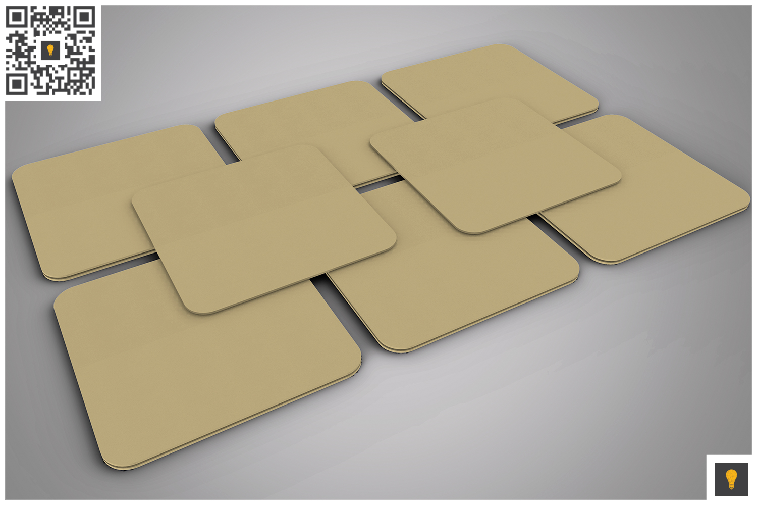 Paper Coaster 3D Render example image 3