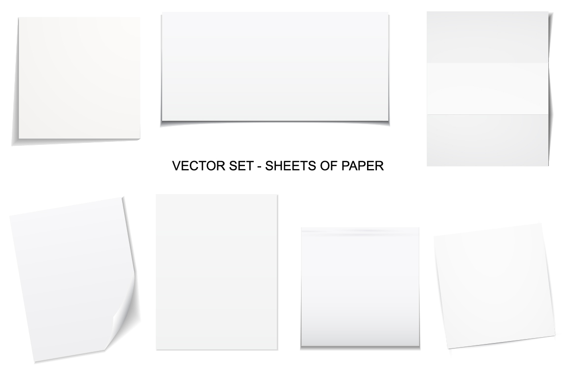 Sheets of paper. Vector collection. example image 1