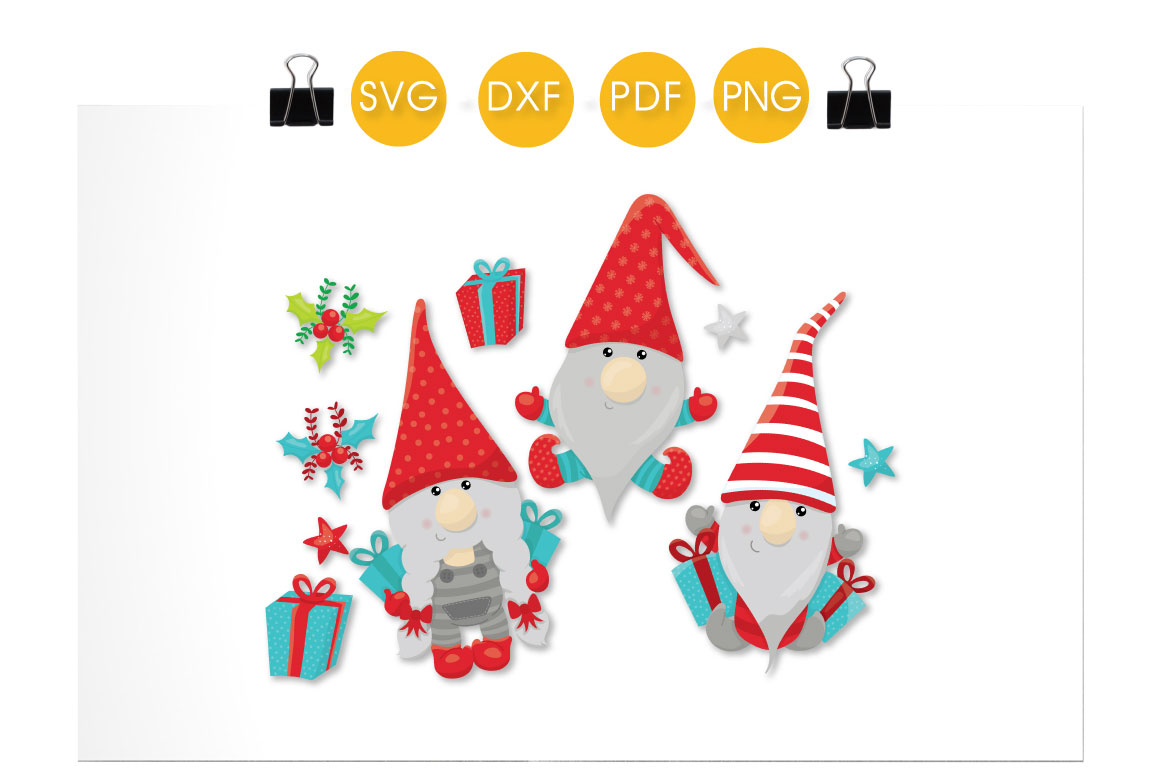 Download Present Christmas Gnomes cutting files svg, dxf, pdf, eps ...