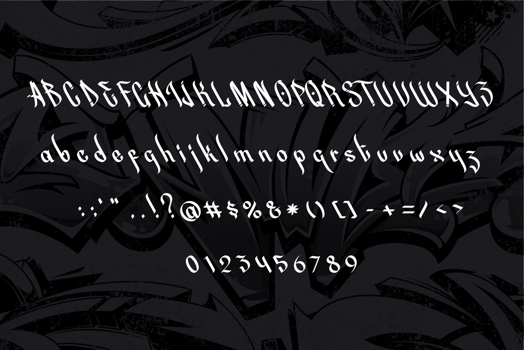 Street Beat Graffiti Typeface example image 2