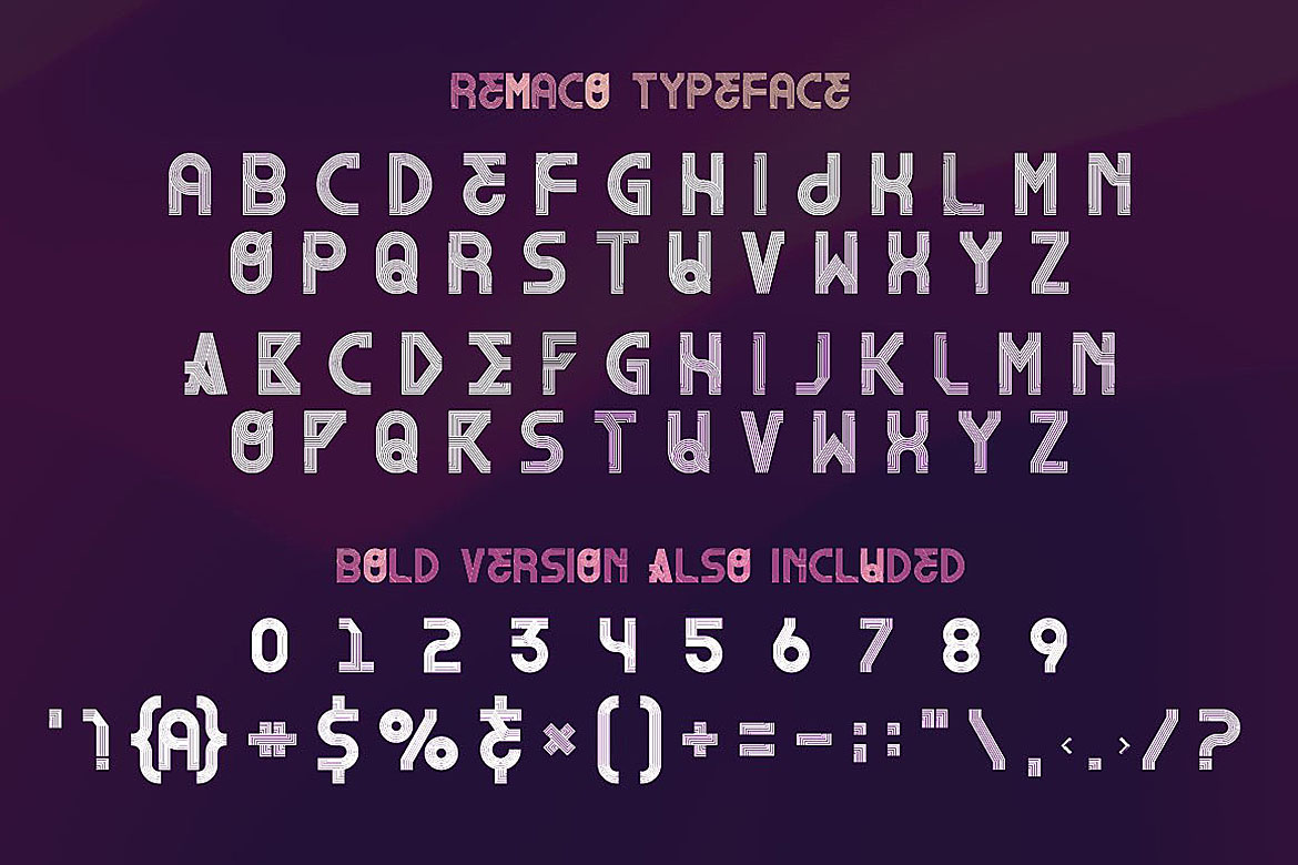 Remaco - Display Font example image 4