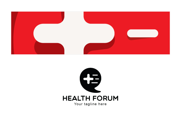 Health Forum - Call Out Iconic Symbol Stock Logo Template example image 3