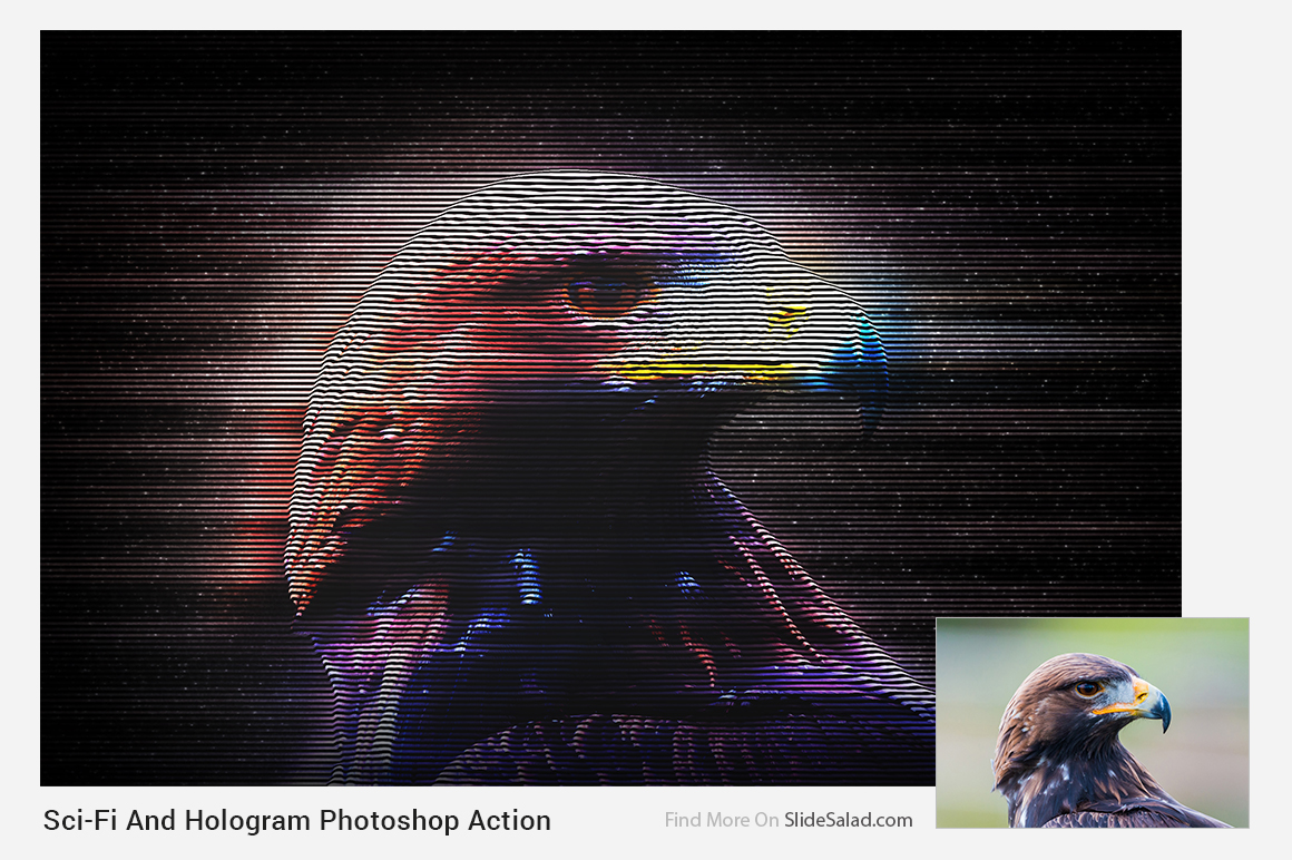 Sci-Fi And Hologram Photoshop Action example image 18