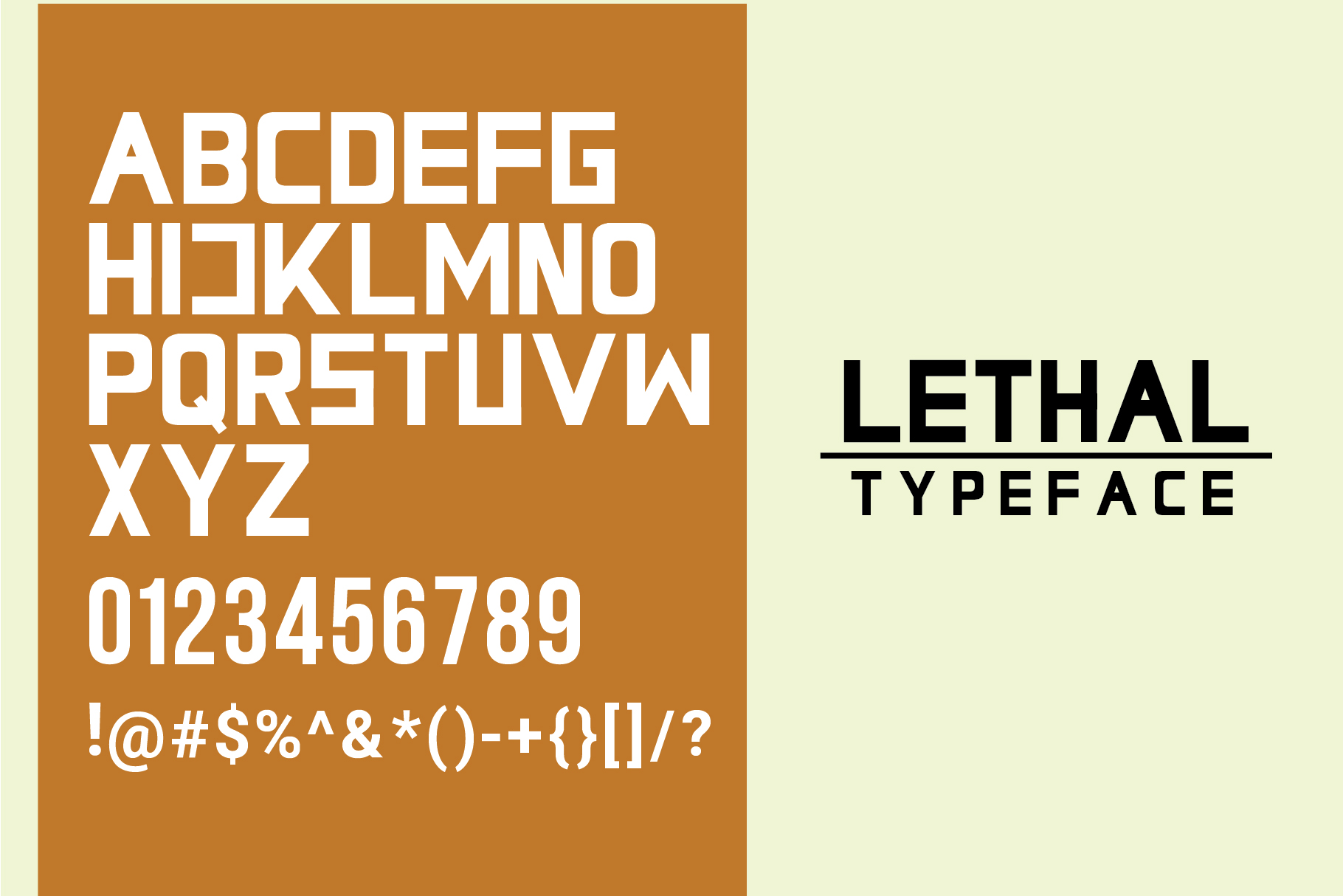 Lethal Markwell Duo Font example image 2