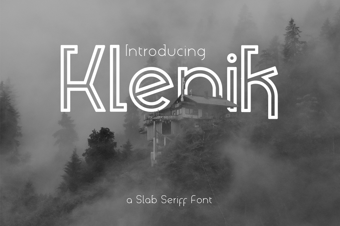 Klenik   a Slab Seriff Font example image 1
