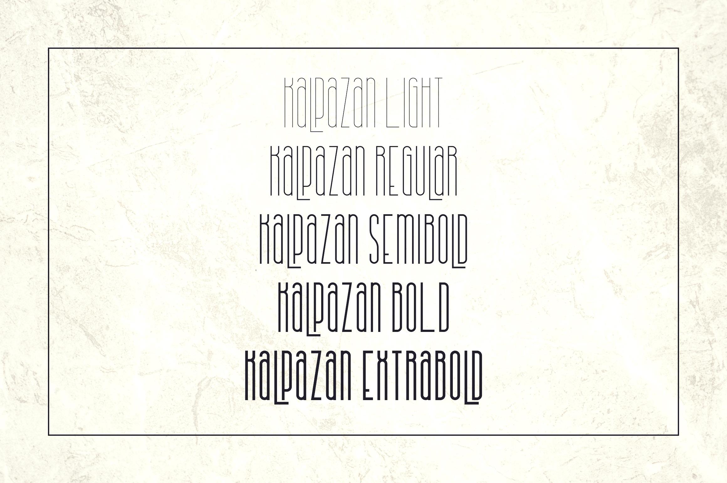 Kalpazan font family example image 2