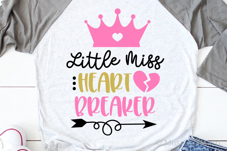 Girl Valentines Day Svg Little Miss Heart Breaker Svg Baby 439515 Svgs Design Bundles