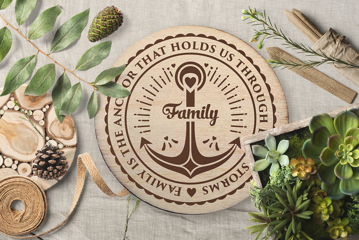 Love Family SVG Quote cut file example image 4
