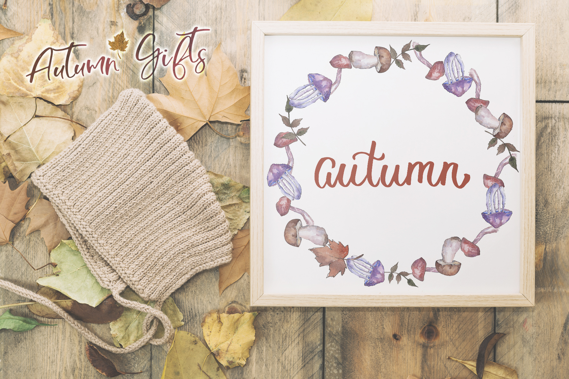 Gifts of autumn PNG watercolor set example image 7