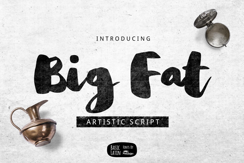 Big Fat Brush Font example image 1