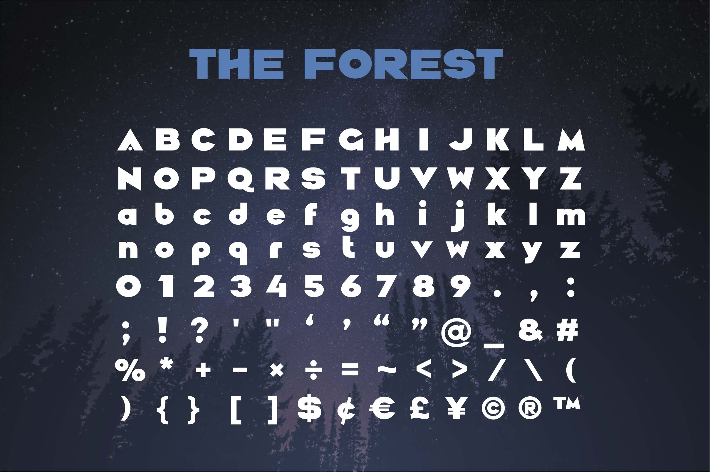 The Forest. Sans serif bold otf font example image 3