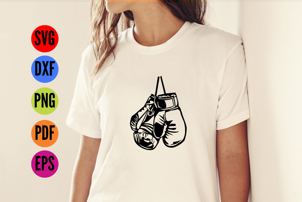 Boxing Gloves SVG Cutting File  example image 2