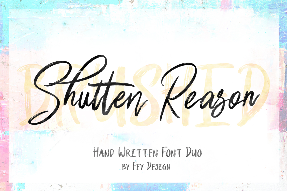 Shutten Reason - Duo Handwritting Brush Font example image 1