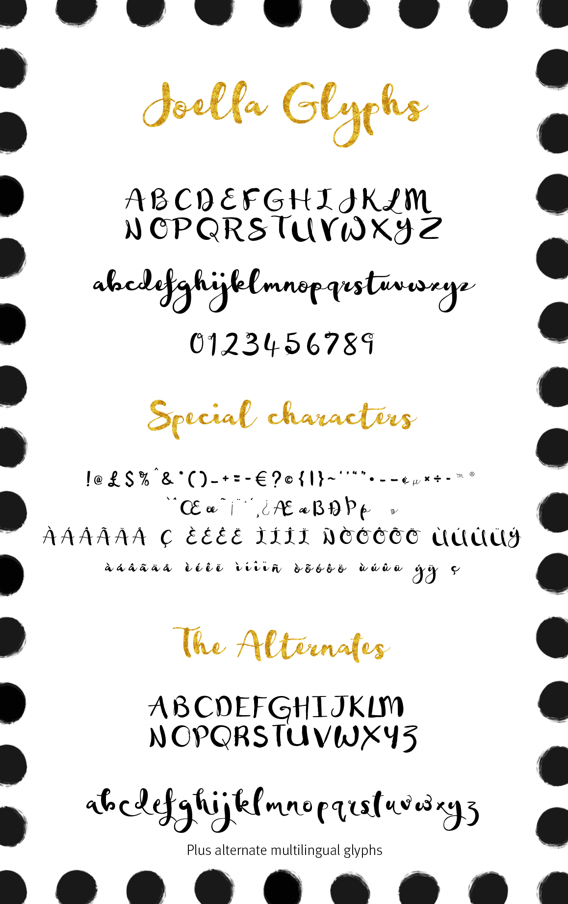 Joella hand lettered font example image 3