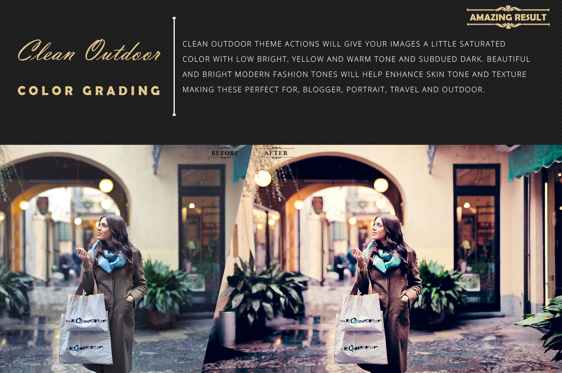 Neo Clean Outdoor Color grading Photoshop Actions example image 4