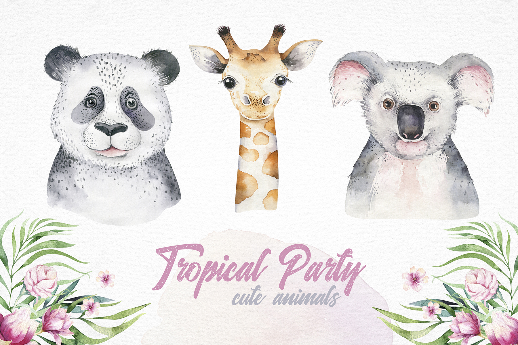 Cute friends II. Tropical party example image 2