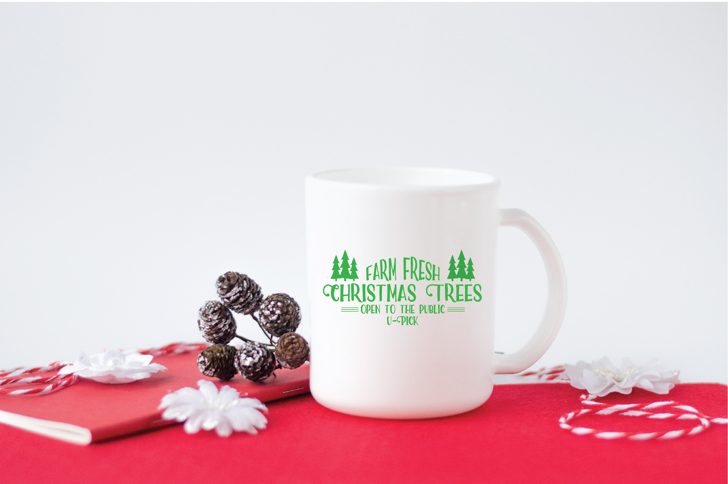 Christmas SVG Cut File - Christmas Trees SVG DXF PNG EPS JPG example image 5