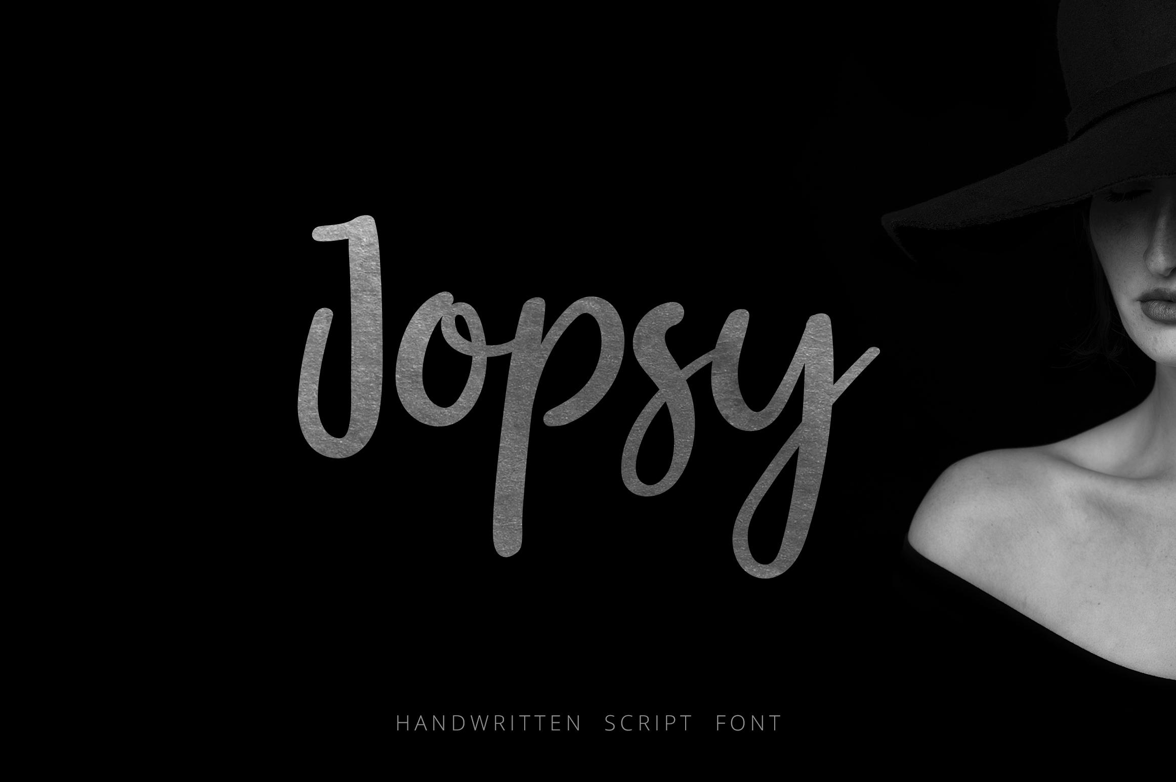 Jopsy. Handwritten Font example image 1