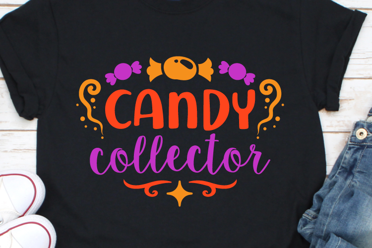Candy Collector Svg, Candy Svg, Halloween Svg, Svg Files example image 1