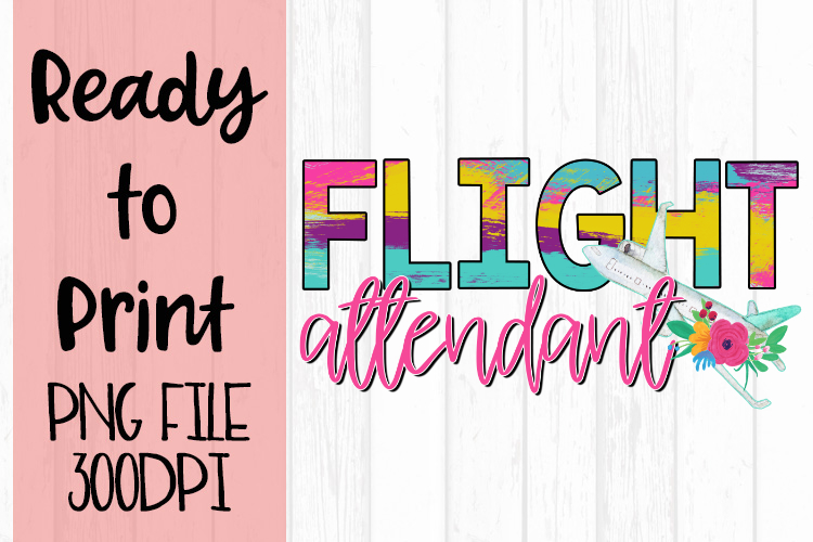 Flight Attendant Occupations Bright Ready to Print Design example image 1