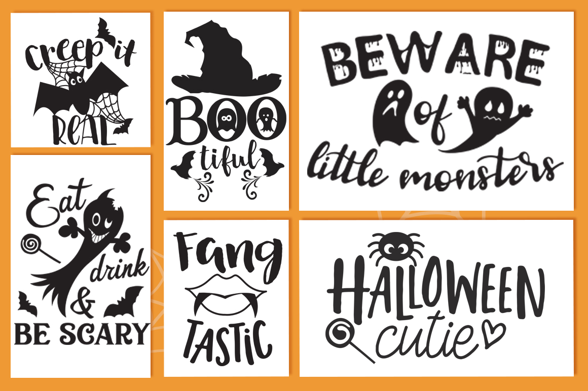 The Halloween SVG Cut Files Pack with 30 Items example image 3