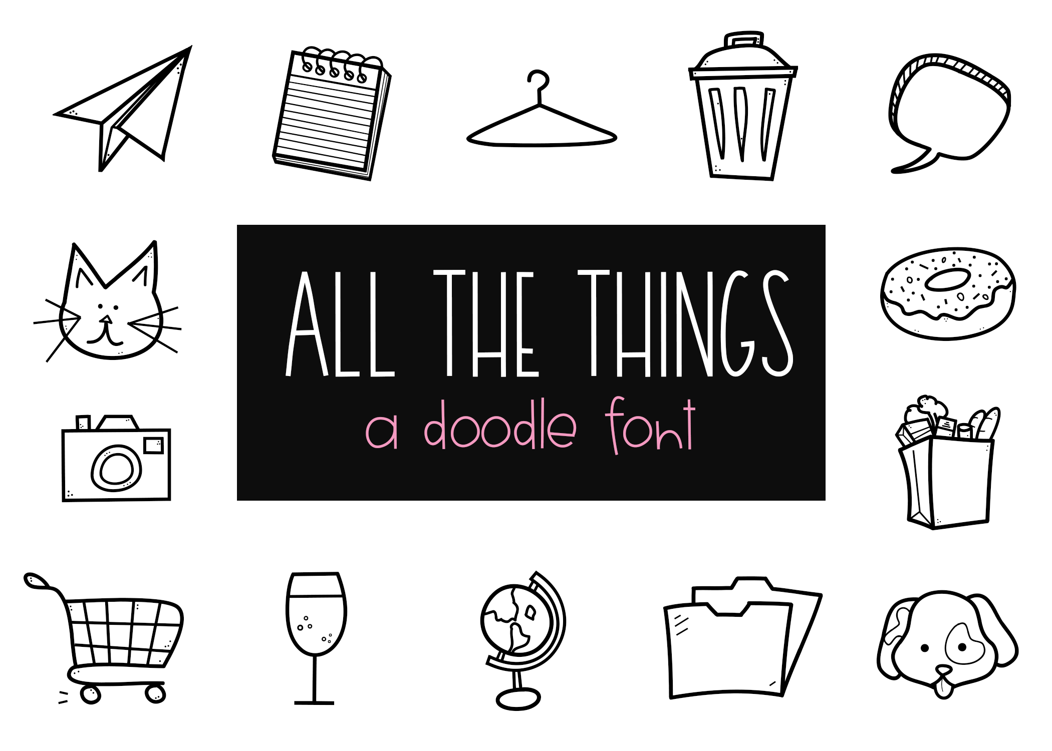 All The Things - A Doodle Font example image 1